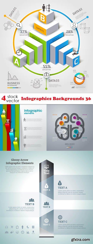 Vectors - Infographics Backgrounds 36