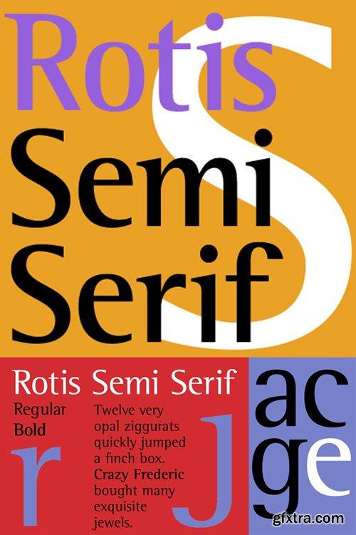 Rotis Semi Serif Font Family $290