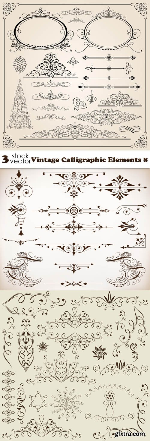 Vectors - Vintage Calligraphic Elements 8