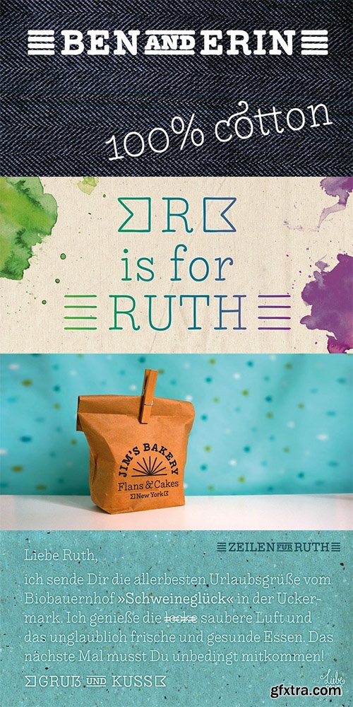 Liebe Ruth Font Family - 4 Fonts $116