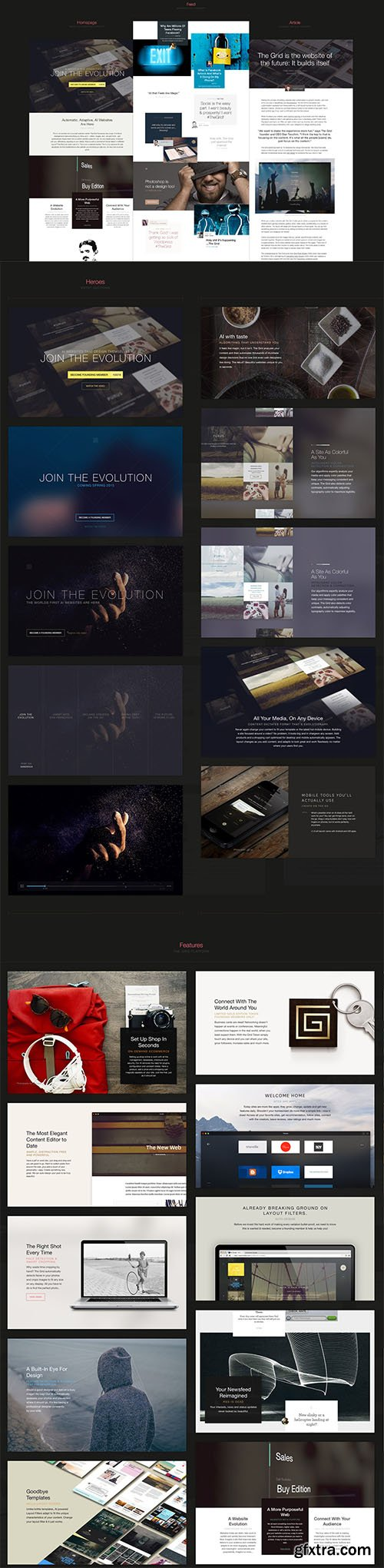 PSD Web Templates - The Grid
