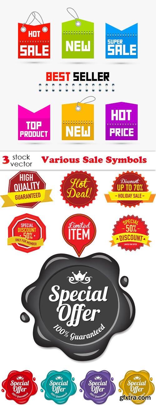 Vectors - Various Sale Symbols