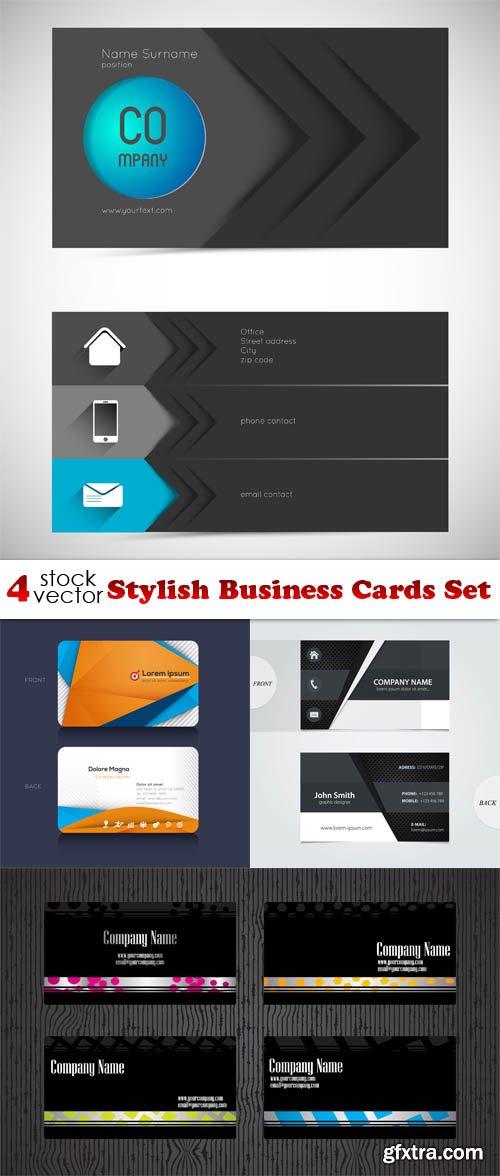 Vectors - Stylish Business Cards Set