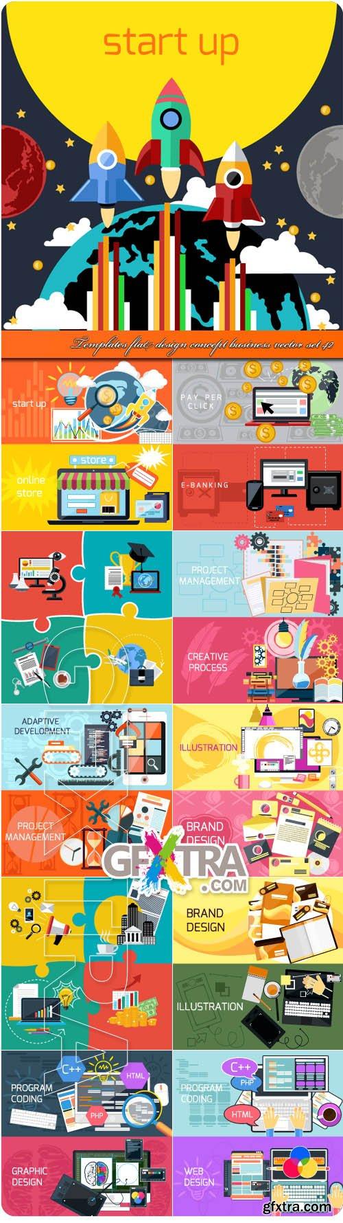 Templates flat design concept business vector set 42