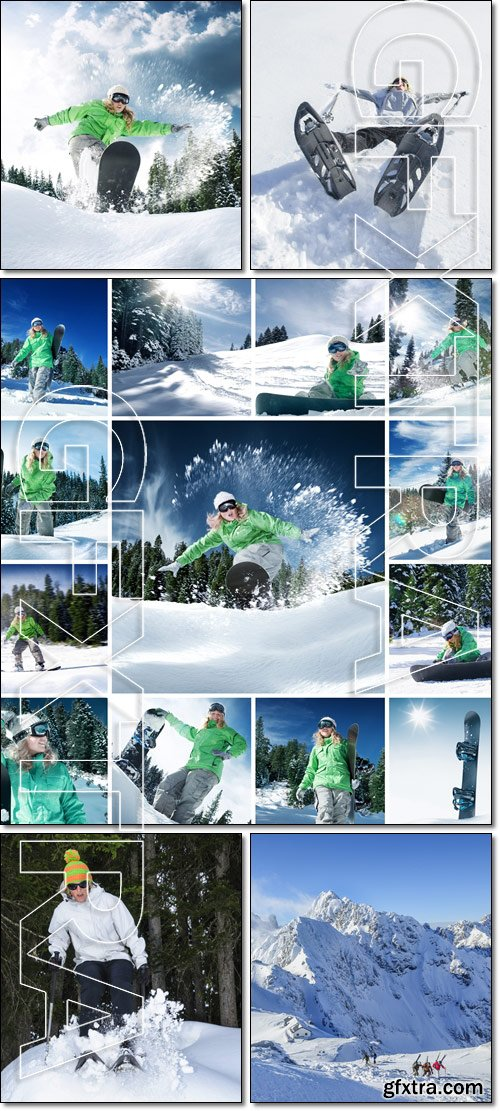 Beautiful, winter sports holiday in the mountains