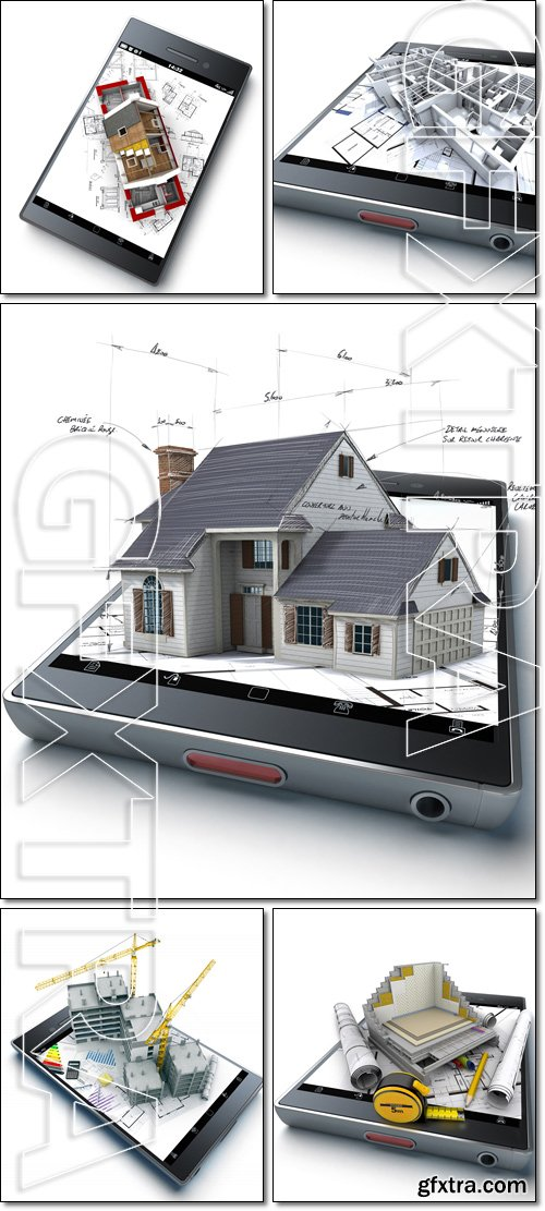 Construction and House insulation app - Stock photo