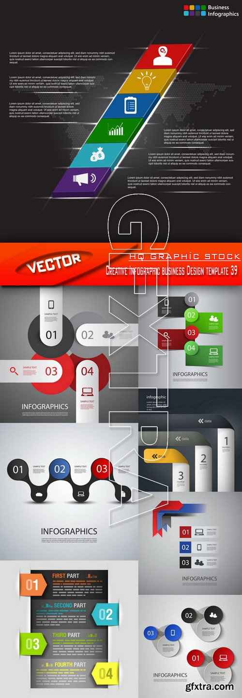 Stock Vector - Creative Infographic business Design template 39