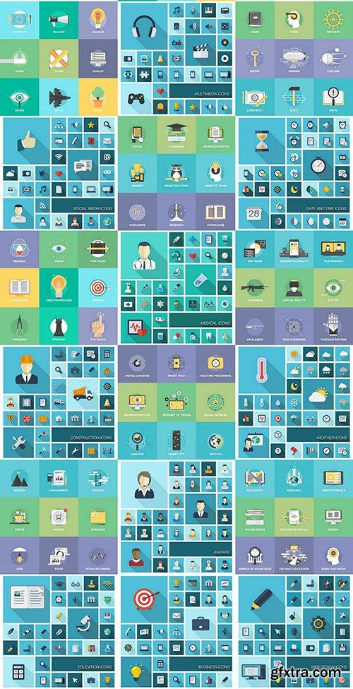 Modern Design Icons, 25xEPS