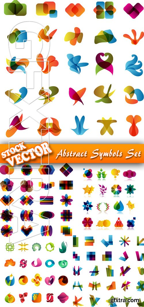 Stock Vector - Abstract Symbols Set