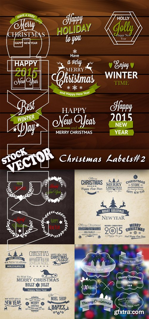 Stock Vector - Christmas Labels#2