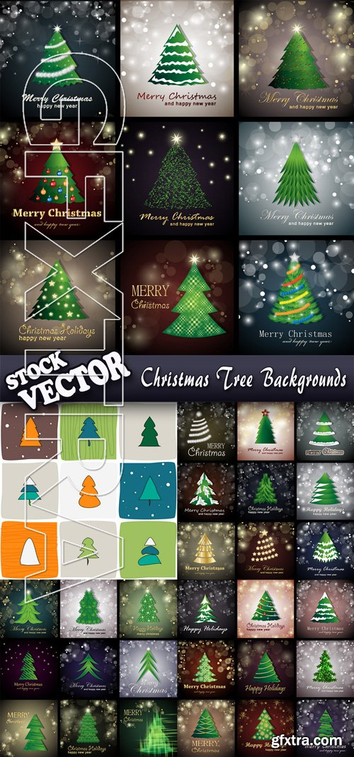 Stock Vector - Christmas Tree Backgrounds
