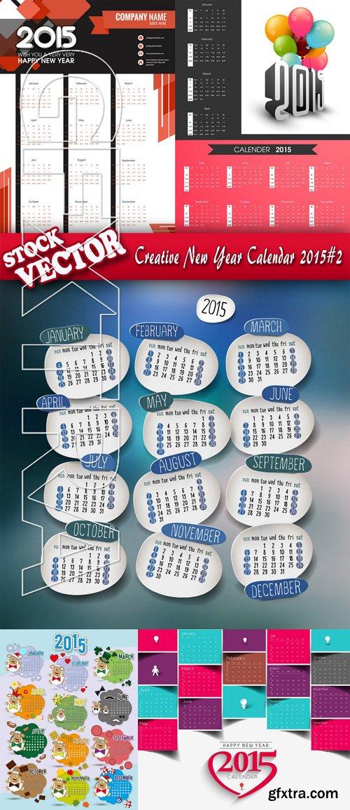 Stock Vector - Creative New Year Calendar 2015#2