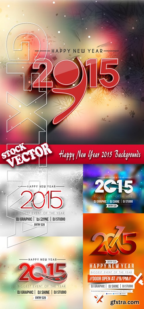 Stock Vector - Happy New Year 2015 Backgrounds