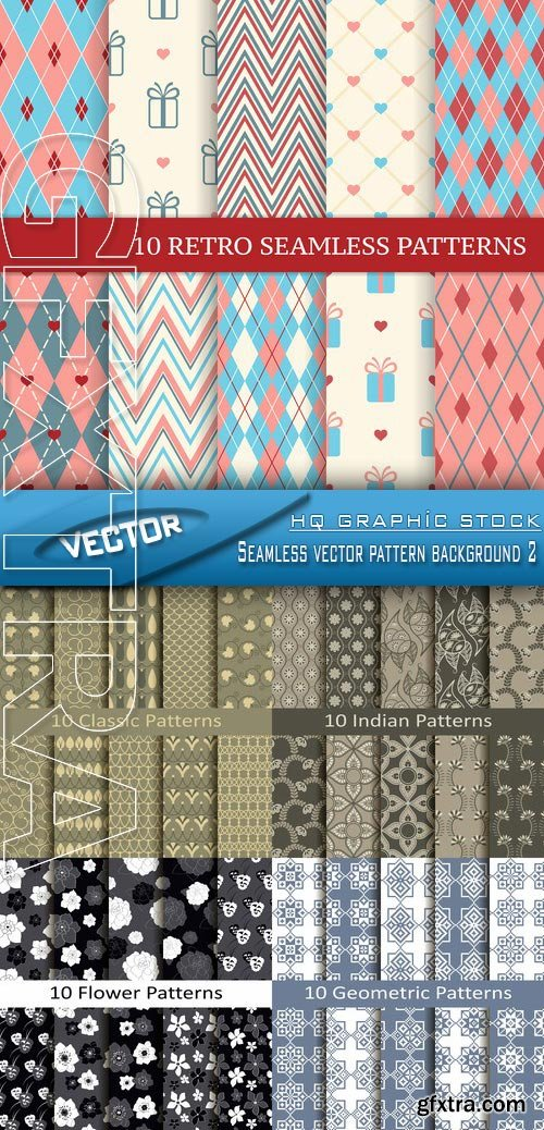 Stock Vector - Seamless vector pattern background 2