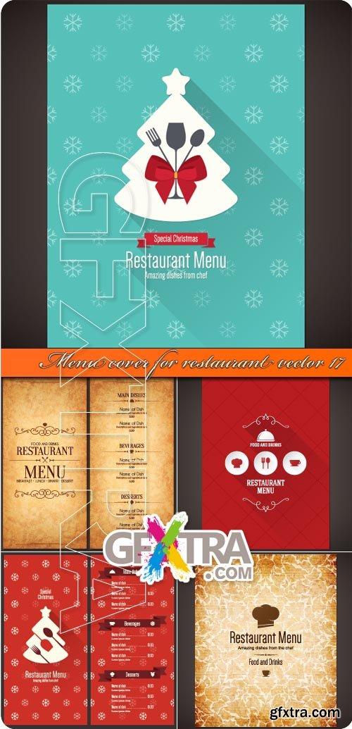 Menu cover for restaurant vector 17