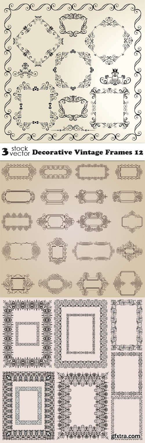 Vectors - Decorative Vintage Frames 12