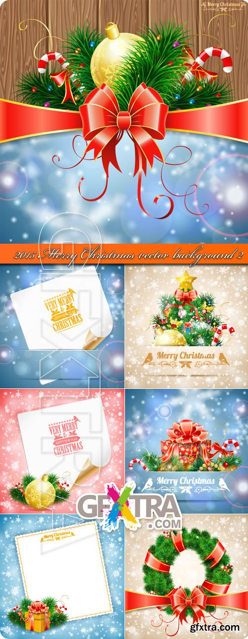 2015 Merry Christmas vector background 2
