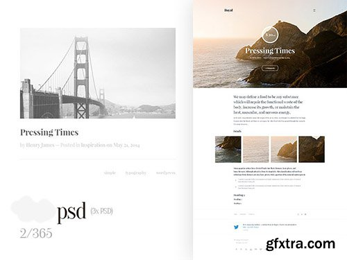 PSD Web Template - Pressing Times