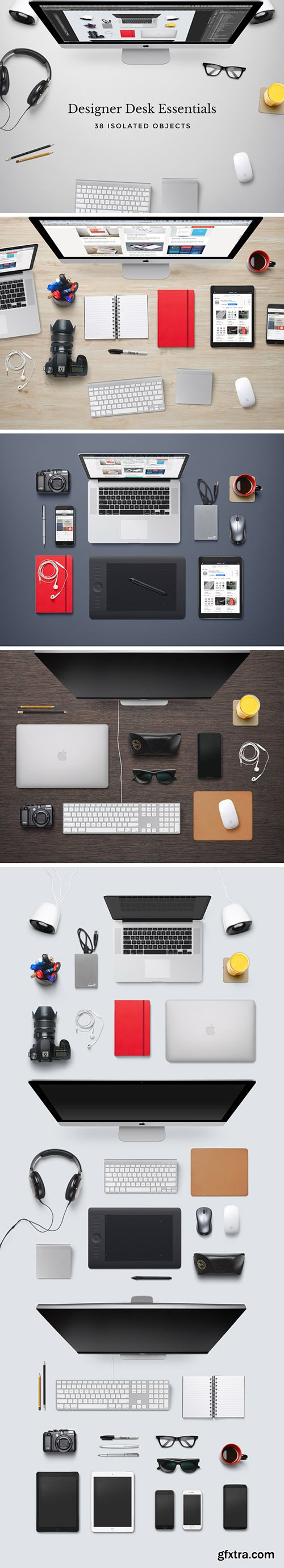 GraphicBurger - Designer Desk Essentials 5xPSD