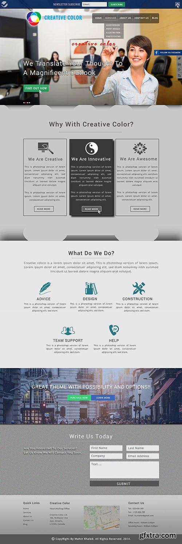 PSD Web Template - Creative Color