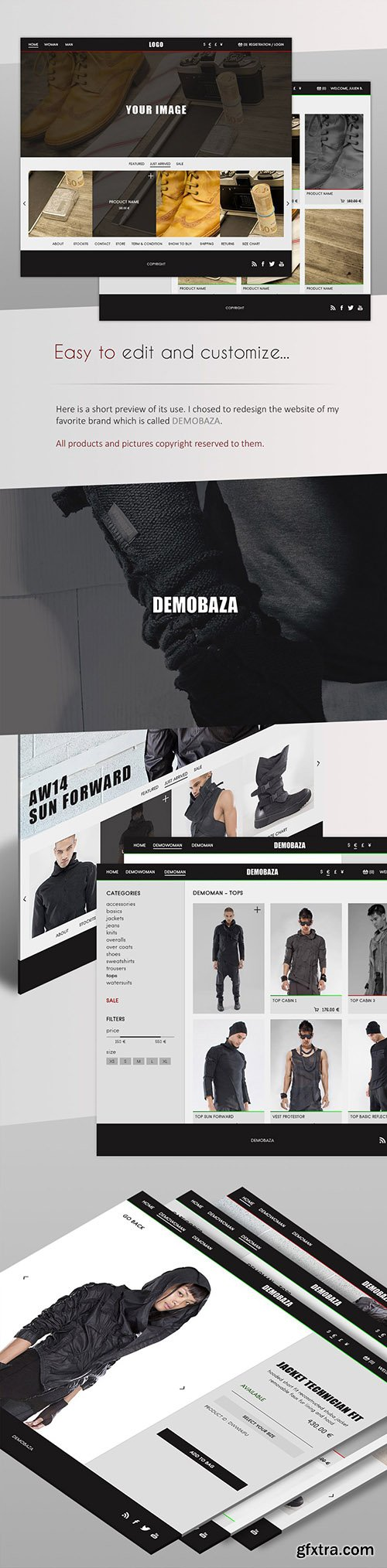 PSD Web Template - Clothing Store - eCommerce Theme