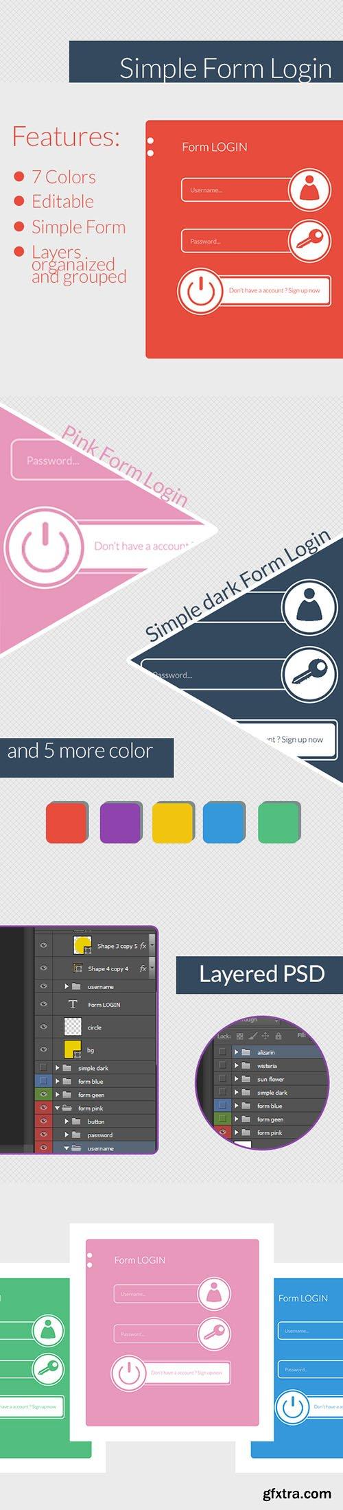 PSD Web Design - Simple Login Form 2014