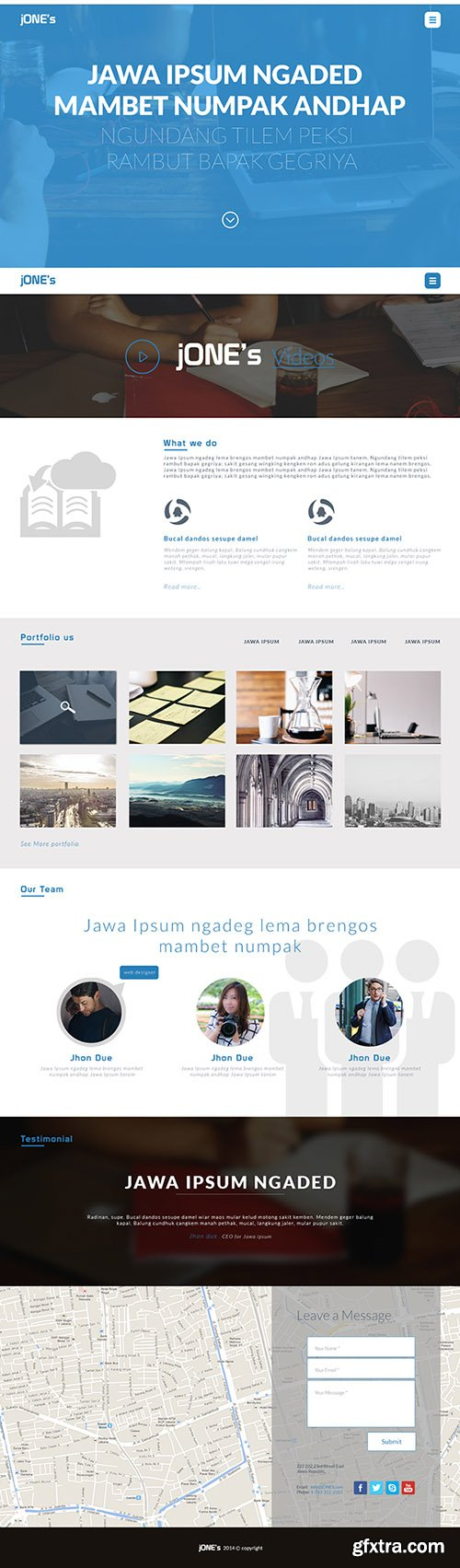 PSD Web Template - jONE's - Landing Page Theme