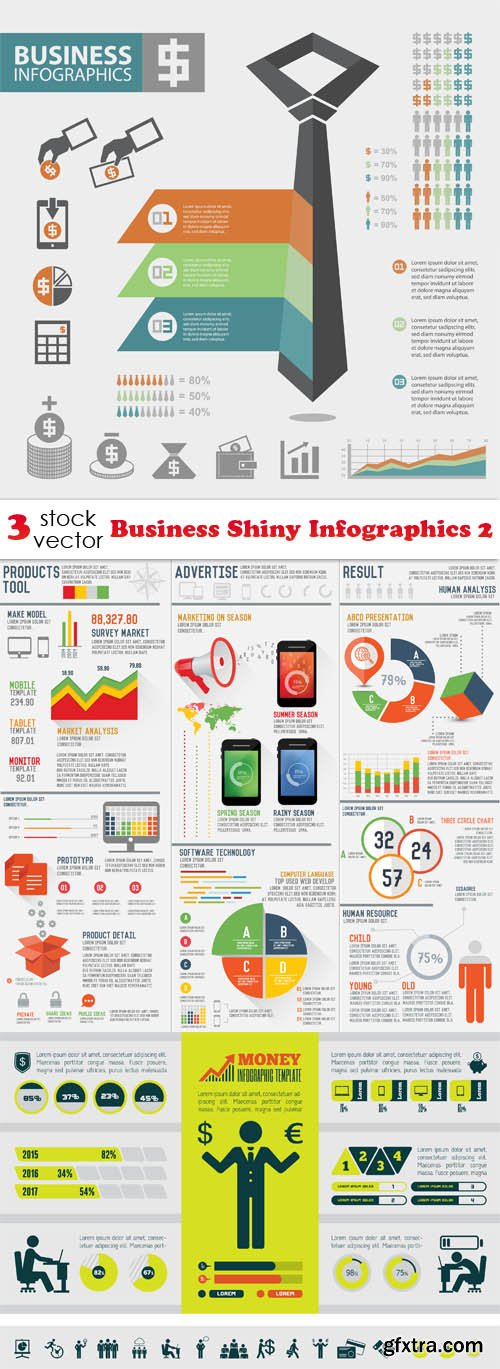 Vectors - Business Shiny Infographics 2