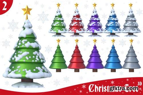 Christmas Tree 3D Set 2