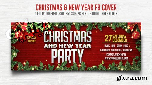 Christmas and New Year Party FB Cover
