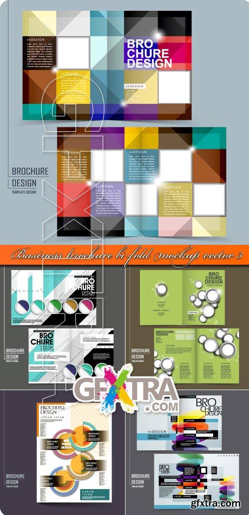 Business brochure bi-fold mockup vector 3