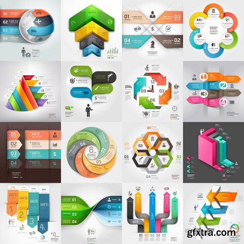 Infographics Design Elements#69 - 30 Vector
