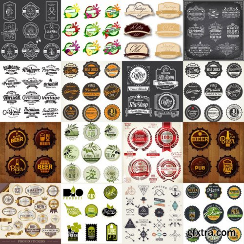 Different Labels & Stickers #2 - 30 Vector