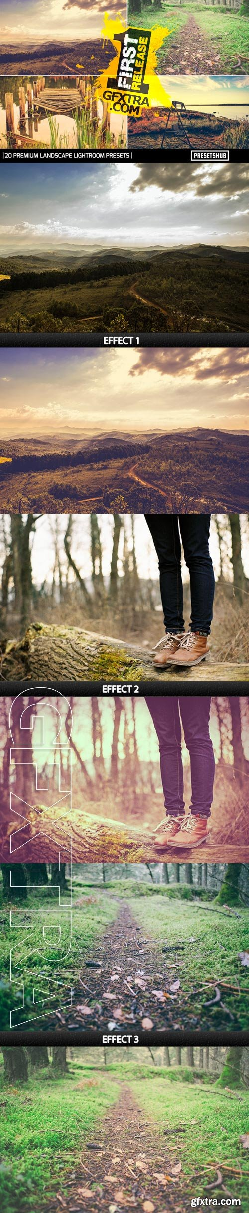 GraphicRiver - 20 Premium Landscape Effect V-1 Lightroom Presets 9475026