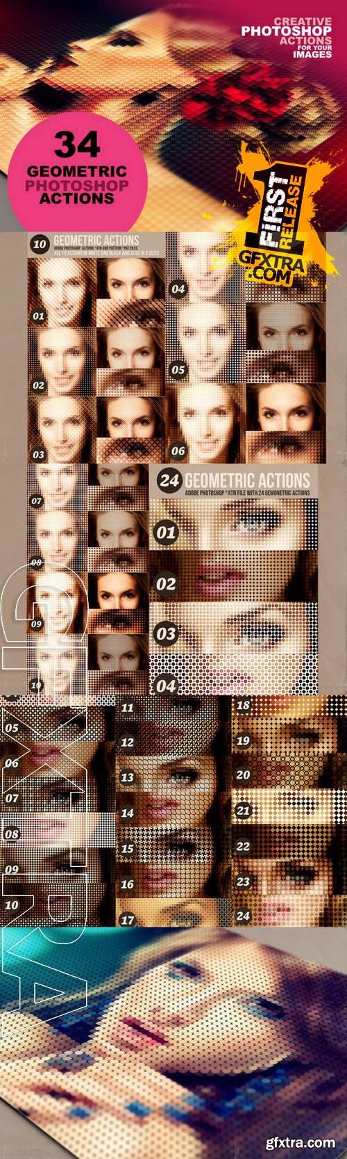 34 Geometric Photoshop Actions 03 - Creativemarket 29491