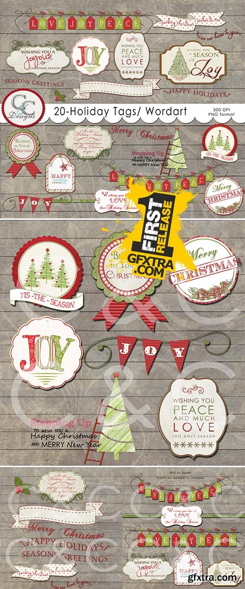 Holiday Tags Elements