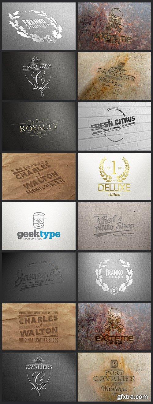 CreativeMarket 106169 - 64 Logo Mock-ups BUNDLE