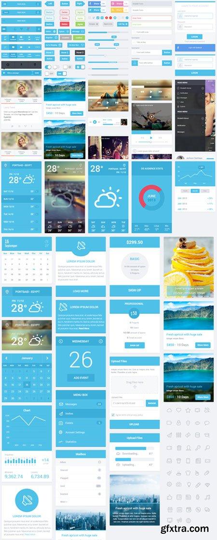 Flatastic Mobile PSD UI Kit