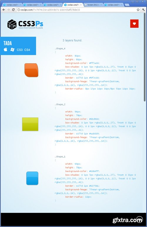 CSS3Ps - Cloud Based Photoshop Plug-in (CS3+)