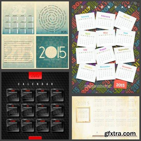 Calendar 2015 Vector Design Templates