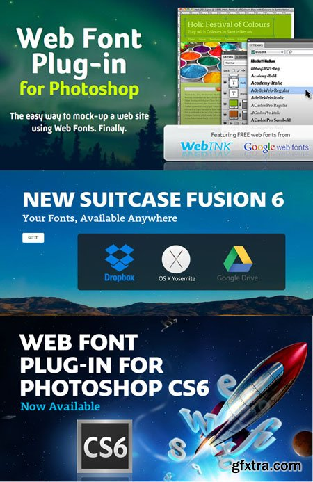 Web Font Plug-in for Adobe Photoshop (WIN/MACOSX)