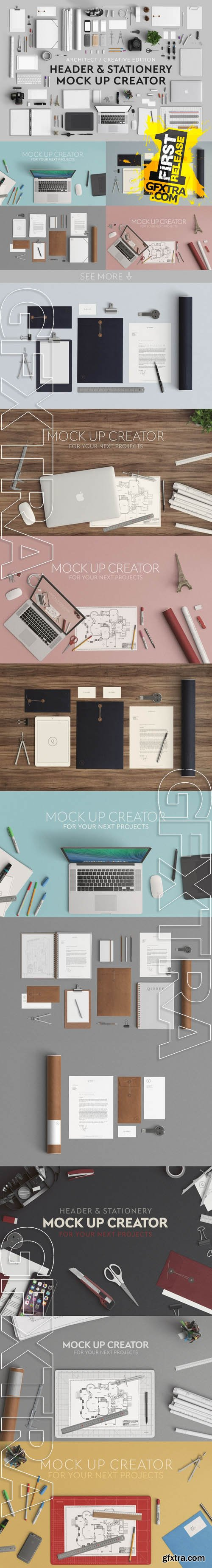 Header & Stationery Mock Up Creator - Creativemarket 126175