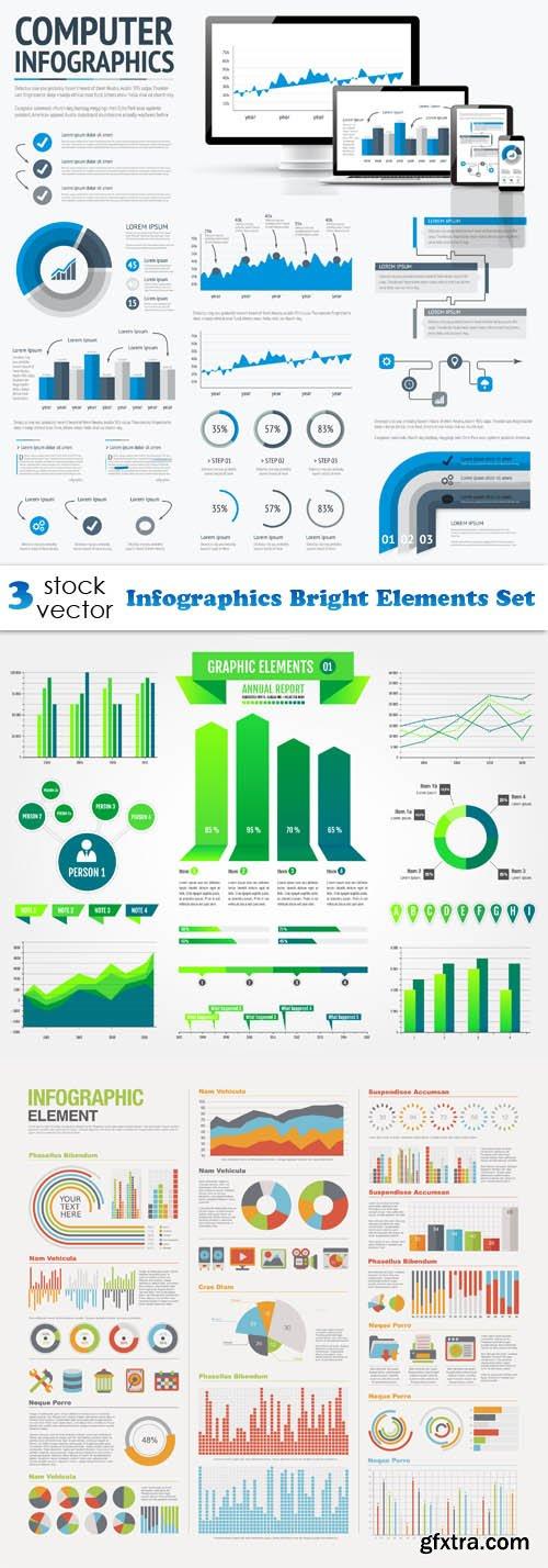 Vectors - Infographics Bright Elements Set