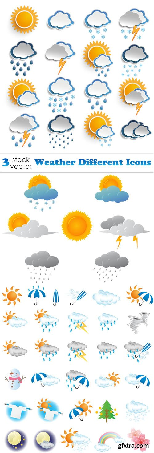 Vectors - Weather Different Icons