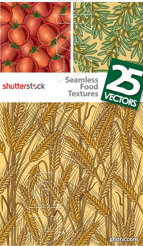 Seamless Food Textures 25xEPS