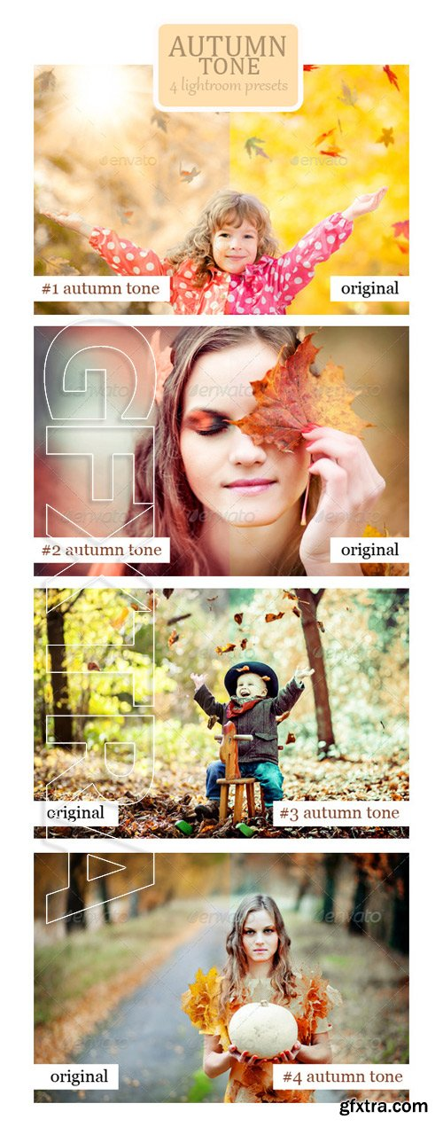 GraphicRiver - Autumn Tone - 4 Lightroom Presets 8970816