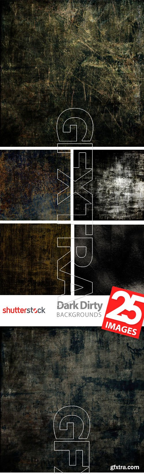 Dark and Dirty Backgrounds 25xJPG
