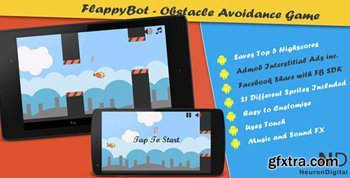 CodeCanyon - FlappyBot v3 - An Obstacle Avoidance Game