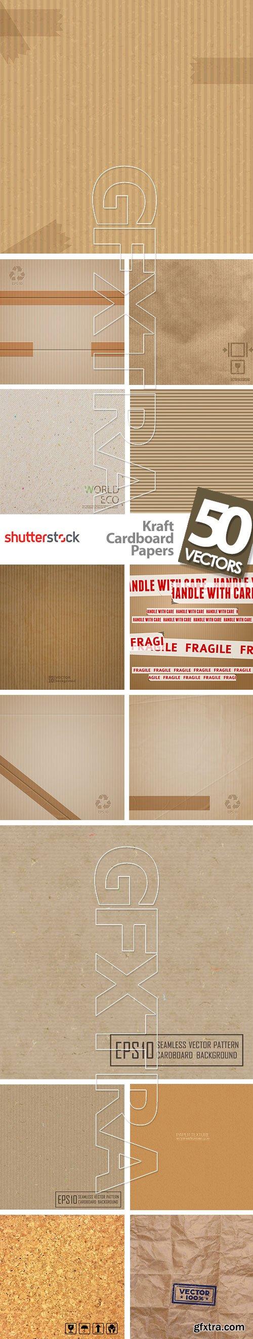 Kraft Cardboard Papers 50xEPS