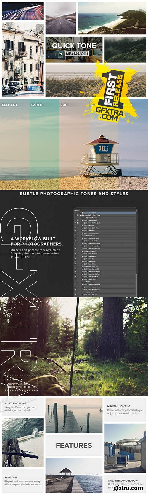 QuickTone - Suble Photoshop Actions - Creativemarket 57104